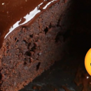Brownie de chocolate com cobertura!