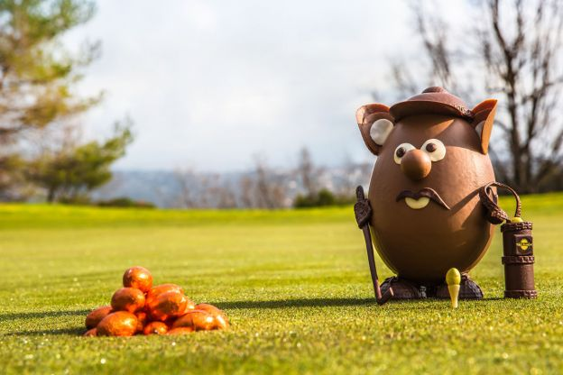 Swingy, o mascote em chocolate de Terre Blanche, Hotel spa e resort