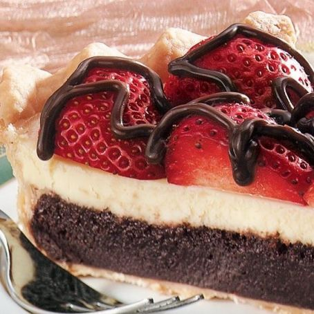 Cheesecake de Morango com Chocolate