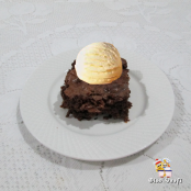 Brownie com iogurte
