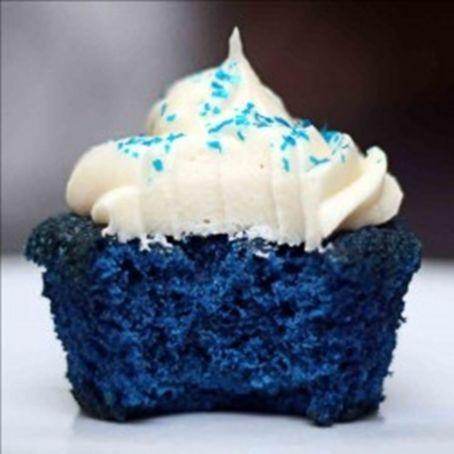Cupcake Blue Velvet Veludo Azul 2 8 5