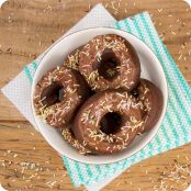 Donuts de chocolate com Nutella