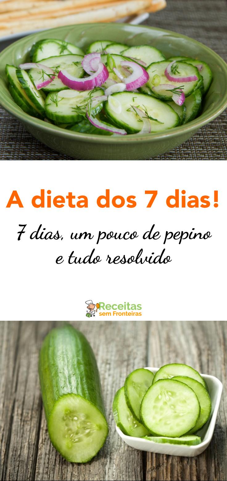 Dieta de pepino por 7 dias